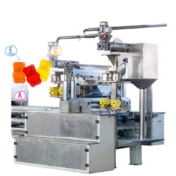 Multifunctional jelly gummy bear candy making machine soft candy production line