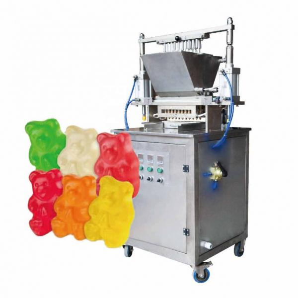 Hgih intensive multi color low sugar candy gummie sugar sweets forming small lab candy machine
